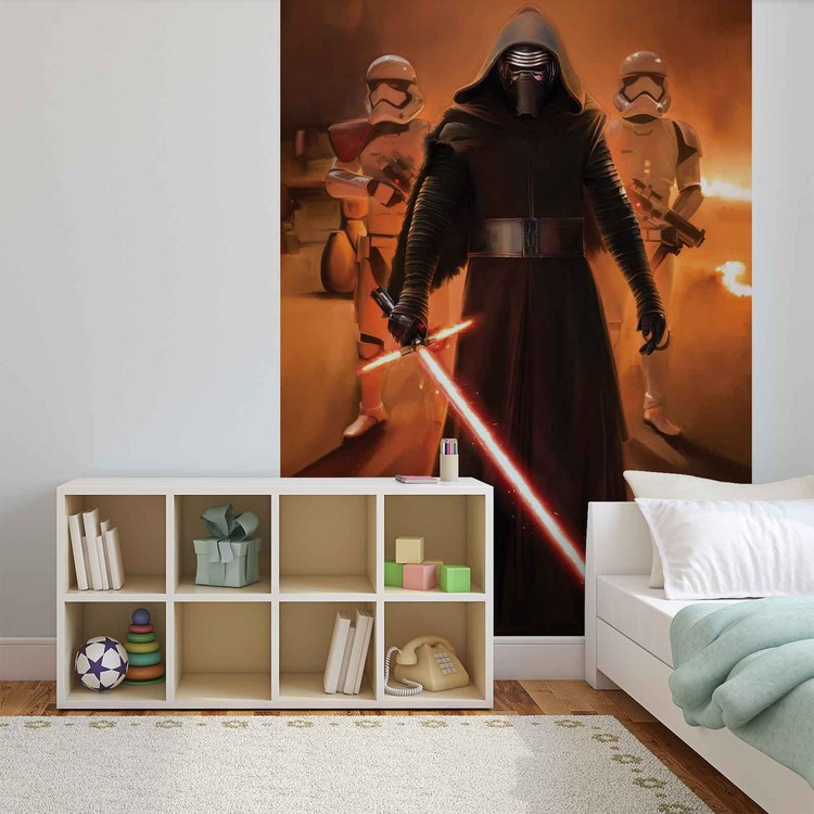 Posters Fototapeta Star Wars Force Awakens 184x254 cm - 115g/m2 Paper - Posters