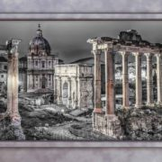 Posters Fototapeta Rome City Ruins Window View 254x184 cm - 115g/m2 Paper - Posters