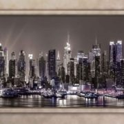 Posters Fototapeta New York City Skyline Window View 254x184 cm - 115g/m2 Paper - Posters