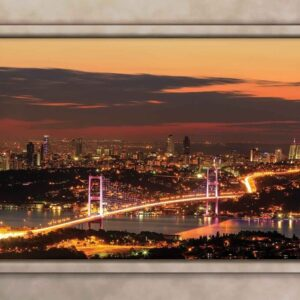 Posters Fototapeta City Skyline View Istanbul 254x184 cm - 115g/m2 Paper - Posters