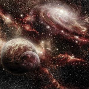 Posters Fototapeta Space Planets 254x184 cm - 115g/m2 Paper - Posters