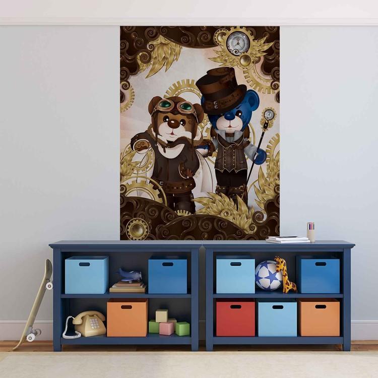 Posters Fototapeta Rainbow Bears Care Bears 206x275 cm - 130g/m2 Vlies Non-Woven - Posters