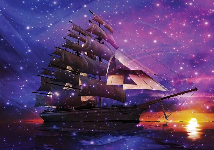 Posters Fototapeta Sailing Ship 254x184 cm - 115g/m2 Paper - Posters