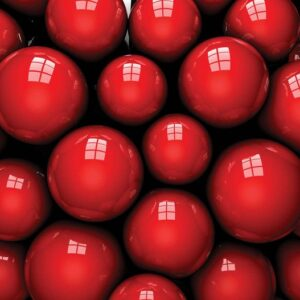 Posters Fototapeta Abstract Modern Red Balls 312x219 cm - 130g/m2 Vlies Non-Woven - Posters