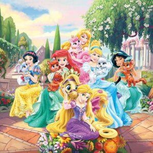 Posters Fototapeta Disney Princesses Rapunzel Ariel 254x184 cm - 115g/m2 Paper - Posters