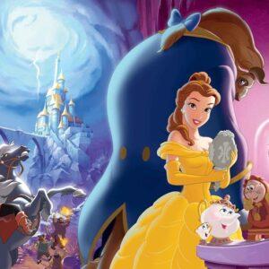 Posters Fototapeta Disney Princesses Belle Beauty Beast 254x184 cm - 115g/m2 Paper - Posters