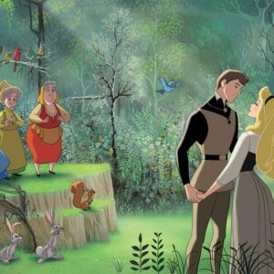 Posters Fototapeta Disney Princesses Sleeping Beauty 254x184 cm - 115g/m2 Paper - Posters