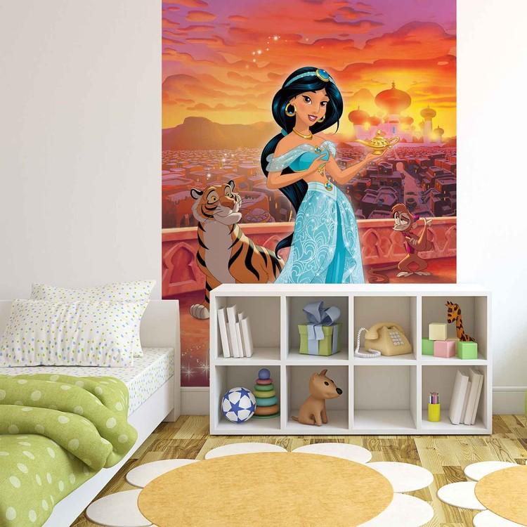 Posters Fototapeta Disney Princesses Jasmine 206x275 cm - 130g/m2 Vlies Non-Woven - Posters