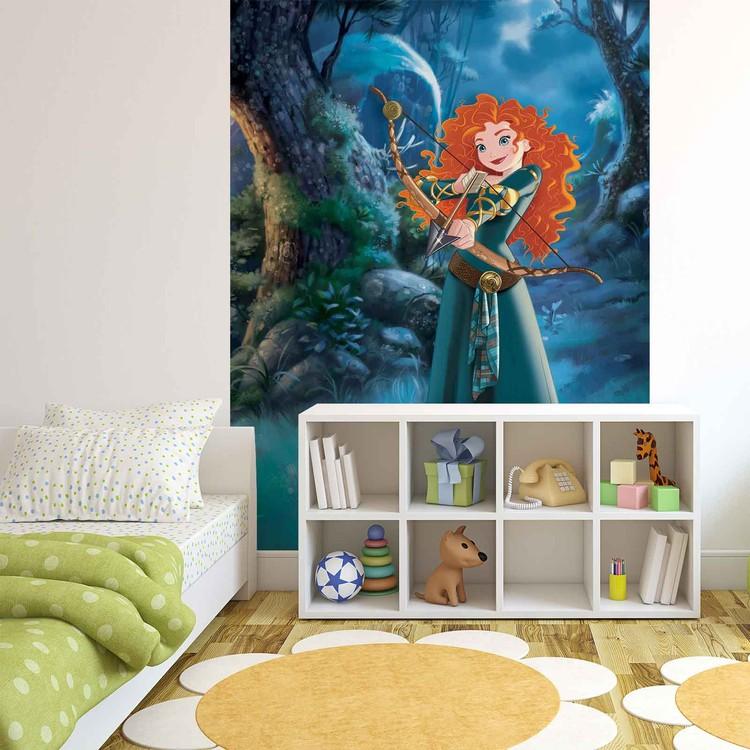 Posters Fototapeta Disney Princesses Merida Brave 184x254 cm - 115g/m2 Paper - Posters