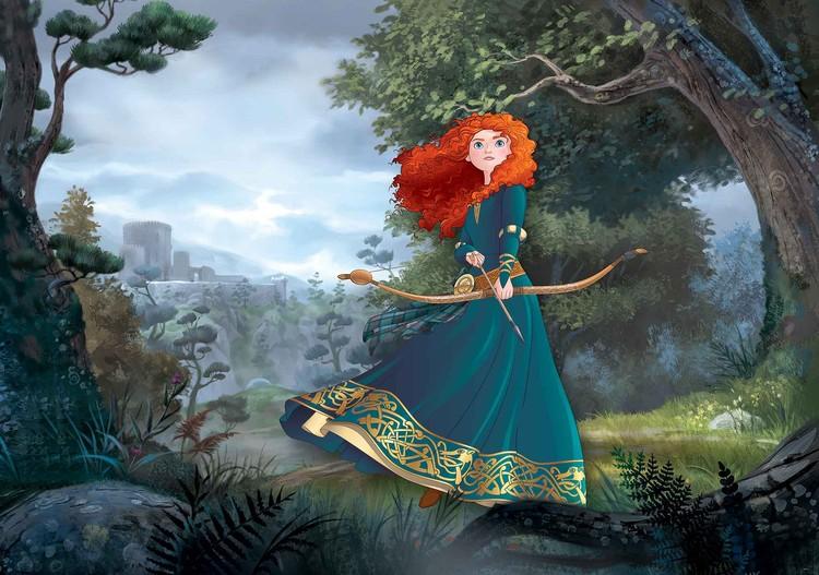 Posters Fototapeta Disney Princesses Merida Brave 254x184 cm - 115g/m2 Paper - Posters