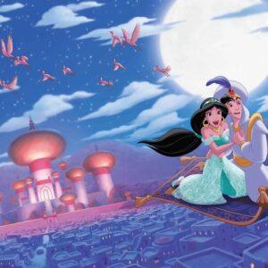 Posters Fototapeta Disney Princesses Jasmine Aladdin 254x184 cm - 115g/m2 Paper - Posters