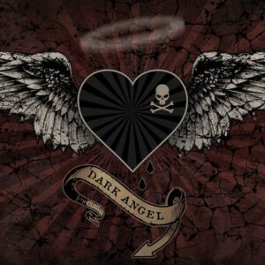 Posters Fototapeta Alchemy Heart Dark Angel Tattoo 254x184 cm - 115g/m2 Paper - Posters