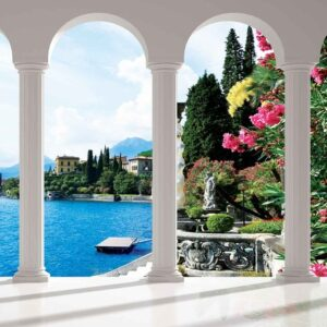 Posters Fototapeta Lake Como Italy Arches 254x184 cm - 115g/m2 Paper - Posters