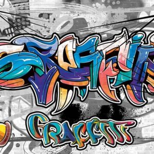 Posters Fototapeta Graffiti Street Art 254x184 cm - 115g/m2 Paper - Posters