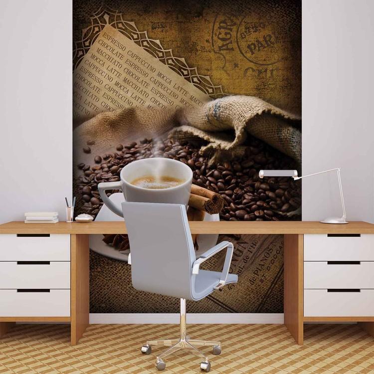 Posters Fototapeta Coffee Beans 206x275 cm - 130g/m2 Vlies Non-Woven - Posters