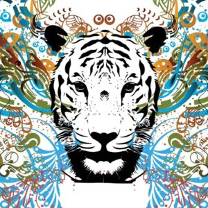 Posters Fototapeta Tiger Abstract 254x184 cm - 115g/m2 Paper - Posters