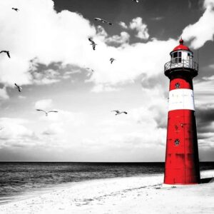 Posters Fototapeta Lighthouse 254x184 cm - 115g/m2 Paper - Posters