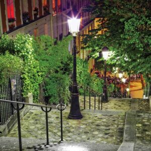 Posters Fototapeta Paris City Street Night 416x254 cm - 130g/m2 Vlies Non-Woven - Posters