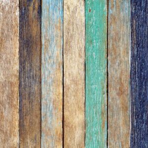 Posters Fototapeta Wood Fence Planks 254x184 cm - 115g/m2 Paper - Posters