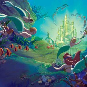 Posters Fototapeta Disney Little Mermaid 152.5x104 cm - 130g/m2 Vlies Non-Woven - Posters