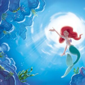 Posters Fototapeta Disney Little Mermaid Ariel 152.5x104 cm - 130g/m2 Vlies Non-Woven - Posters