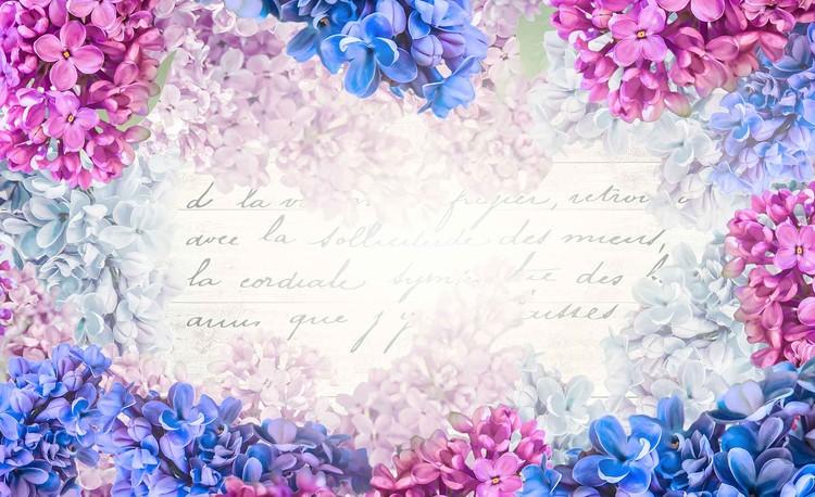 Posters Fototapeta Flowers Vintage 254x184 cm - 115g/m2 Paper - Posters