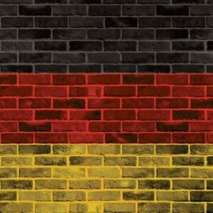 Posters Fototapeta Brick German Flag 416x254 cm - 130g/m2 Vlies Non-Woven - Posters