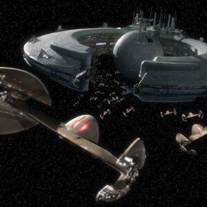 Posters Fototapeta Star Wars Droid Control Ship Lucrehulk 368x254 cm - 115g/m2 Paper - Posters