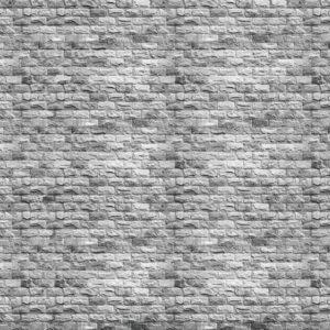 Posters Fototapeta Gray Brick Wall 254x184 cm - 115g/m2 Paper - Posters