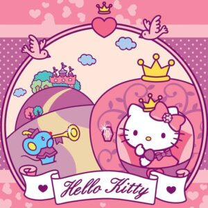 Posters Fototapeta Hello Kitty 416x254 cm - 130g/m2 Vlies Non-Woven - Posters