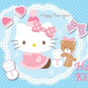 Posters Fototapeta Hello Kitty 254x184 cm - 115g/m2 Paper - Posters