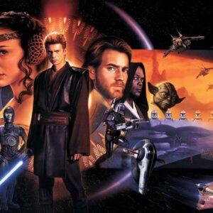 Posters Fototapeta Star Wars Phantom Menace 312x219 cm - 130g/m2 Vlies Non-Woven - Posters
