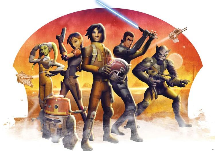 Posters Fototapeta Star Wars Rebels 254x184 cm - 115g/m2 Paper - Posters