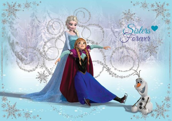 Posters Fototapeta Disney Frozen Elsa Anna Olaf 254x184 cm - 115g/m2 Paper - Posters
