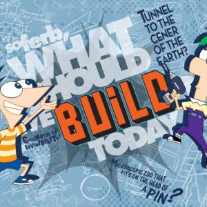 Posters Fototapeta Disney Phineas Ferb 416x254 cm - 130g/m2 Vlies Non-Woven - Posters