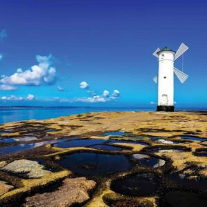 Posters Fototapeta Windmill Facing Out To Sea 254x184 cm - 115g/m2 Paper - Posters
