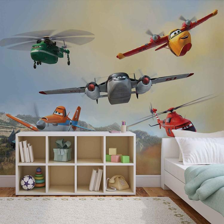 Posters Fototapeta Disney Planes Dusty Blade Dipper Cabbie 416x254 cm - 130g/m2 Vlies Non-Woven - Posters