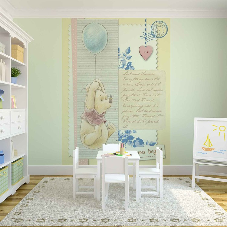 Posters Fototapeta Disney Winnie Pooh 312x219 cm - 130g/m2 Vlies Non-Woven - Posters