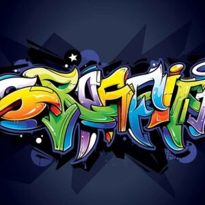 Posters Fototapeta Graffiti Street Art 416x254 cm - 130g/m2 Vlies Non-Woven - Posters
