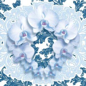 Posters Fototapeta Flowers Floral Pattern 104x70.5 cm - 130g/m2 Vlies Non-Woven - Posters