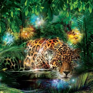 Posters Fototapeta Leopard In Jungle 104x70.5 cm - 130g/m2 Vlies Non-Woven - Posters