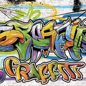 Posters Fototapeta Graffiti Street Art 104x70.5 cm - 130g/m2 Vlies Non-Woven - Posters