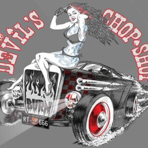 Posters Fototapeta Alchemy Hot Rod Devil Car 104x70.5 cm - 130g/m2 Vlies Non-Woven - Posters