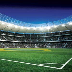 Posters Fototapeta Football Stadium 104x70.5 cm - 130g/m2 Vlies Non-Woven - Posters
