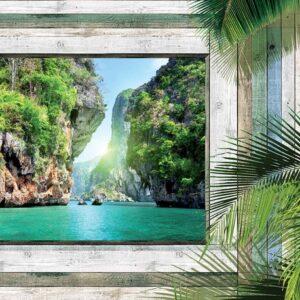 Posters Fototapeta Beach Tropical View 104x70.5 cm - 130g/m2 Vlies Non-Woven - Posters