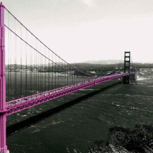 Posters Fototapeta Golden Gate Bridge 104x70.5 cm - 130g/m2 Vlies Non-Woven - Posters