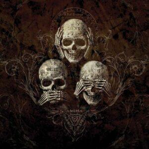 Posters Fototapeta No Listen See Speak Skull Alchemy 152.5x104 cm - 130g/m2 Vlies Non-Woven - Posters