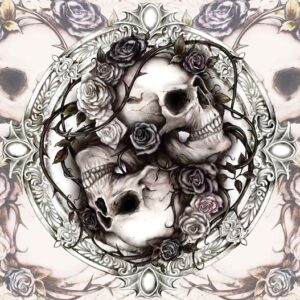 Posters Fototapeta Skull Alchemy Roses 152.5x104 cm - 130g/m2 Vlies Non-Woven - Posters