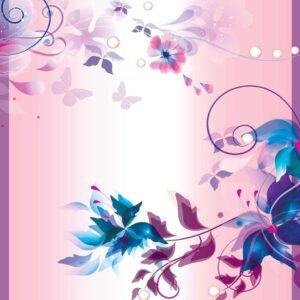Posters Fototapeta Floral Design 104x70.5 cm - 130g/m2 Vlies Non-Woven - Posters