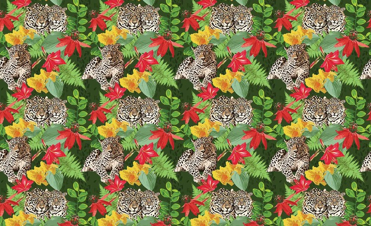 Posters Fototapeta Jungle Cheetah 104x70.5 cm - 130g/m2 Vlies Non-Woven - Posters